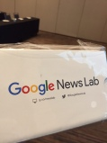 Google Cardboards were given away as door prizes at SPJ JournCamp in Las Vegas.