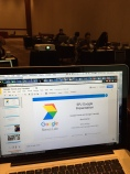 Getting set up for the Google Basics presentation at SPJ JournCamp in Las Vegas.